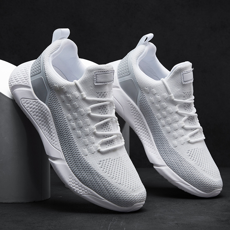 Hemmyi Mens Shoes Casual White Sneakers Spring/Autumn Outdoor Men Shoe Mesh Light Lace-Up Tenis Masculino Adulto Size 39-46