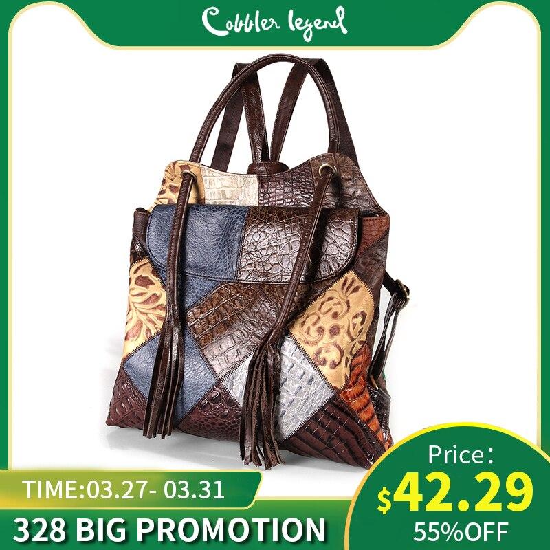 Cobbler Legend New Genuine Leather Backpack Women Bag Backapck School Bag For Teenager Girl Bookbags Mini Female Daypack Travel
