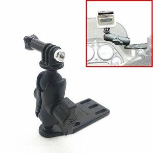 Image 2 - 오토바이 브레이크/클러치 리저버 커버 마운트 및 더블 소켓 암 + Gopro 마운트 볼 헤드베이스 garmin Sjcam 용