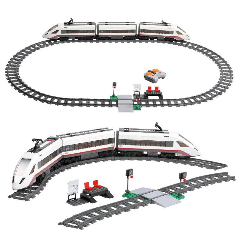 02008 02009 02010 City Cargo Train Series Building Blocks with motor remote control Compatible 60052 60098 60051