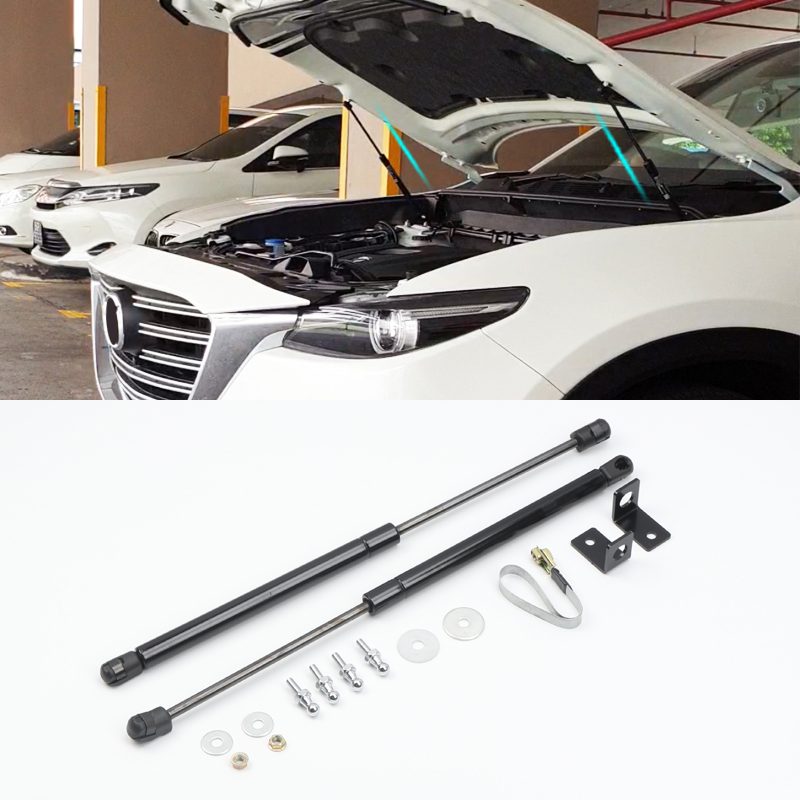 For <font><b>Mazda</b></font> <font><b>CX</b></font>-9 CX9 <font><b>2016</b></font> 2017 2018 2019 Engine Hood Shock Strut Damper Lifter Lift Support Hydraulic Rod Trust Rod 2PCS BRAND NEW image