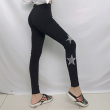 women workout pants thick spandex leggings Sparkling diamond can be worn inside and  Hot Drilling