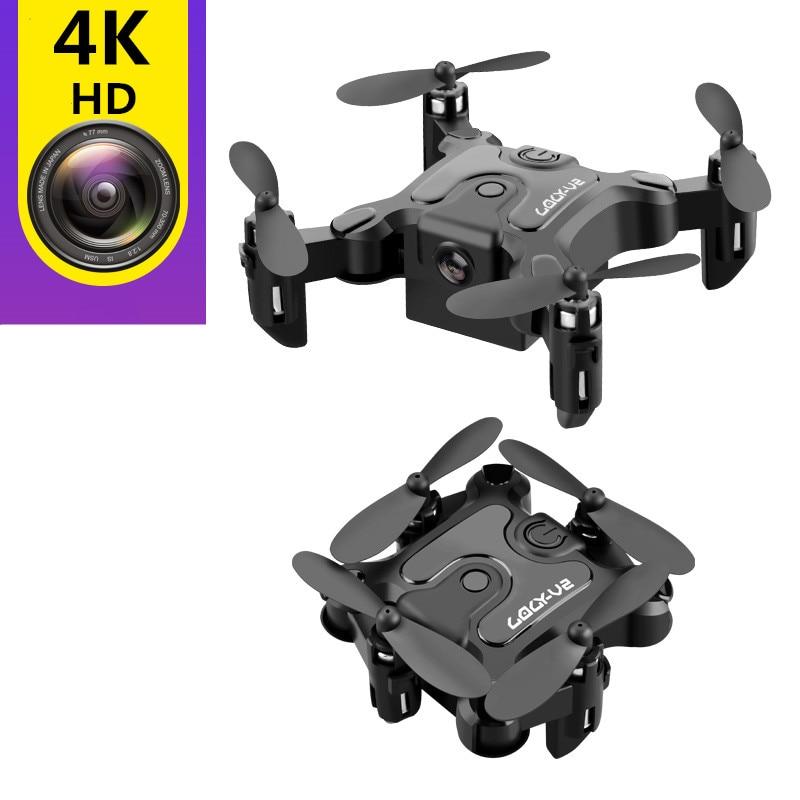Мини-Дрон с камерой HD складные дроны один ключ возврат FPV Квадрокоптер Следуйте за мной RC вертолет Квадрокоптер детские игрушки