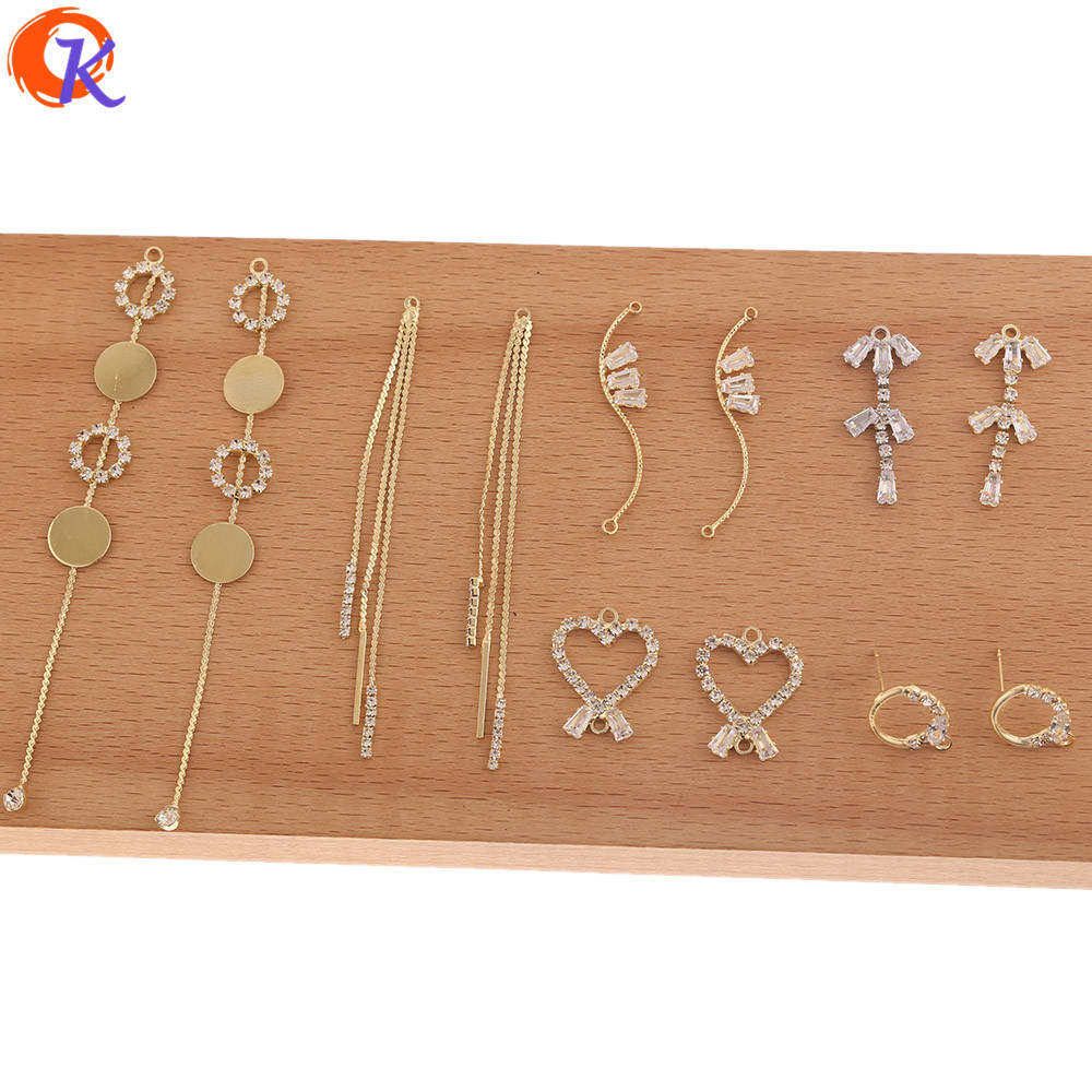 Cordial Design 50Pcs Jewelry Accessories/Earring Findings/DIY Making/Rhinestone Claw Chain/Hand Made/Connectors For Earrings