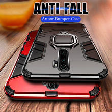 Luxe Armor Metalen Ring Telefoon Case Voor Xiaomi Redmi 5 Plus 6 Pro 7A 8A Note 5 6 7 8 k20 Pro Shockproof Back Cover Silicone Case(China)
