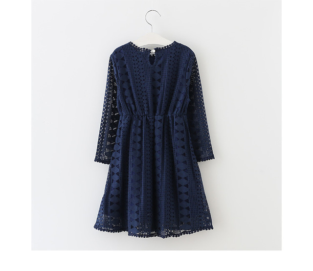 Детское кружеввечерние платье с длинным рукавом на возраст 6
