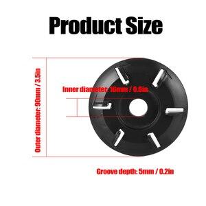 Image 5 - Coupeur de fraisage doutil de disque de sculpture sur bois de puissance de Six dents pour la meuleuse dangle douverture de 16mm