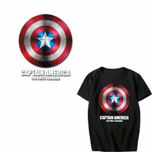 Iron on Transfer Superhero Patches for Clothing DIY T-shirt Applique Heat Vinyl Captain America Letter Patch Stickers