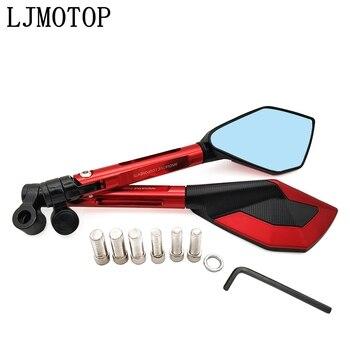 Universal For Sports Motorcycle Mirrors Moto Side Rearview Mirrors CNC For Honda Harley Yamha Hayabusa Suzuki BMW Triumph KTM
