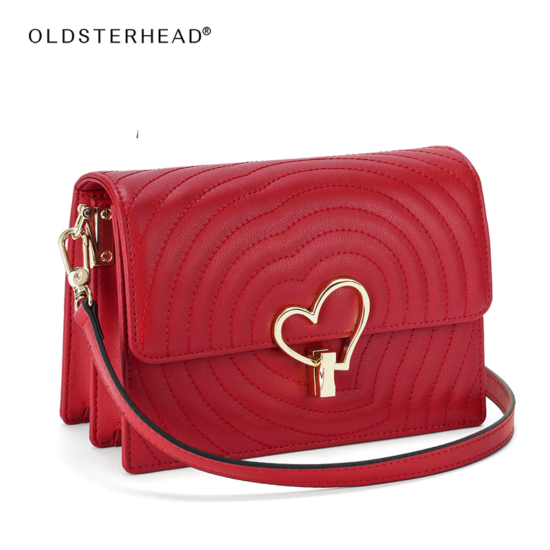 OLDSTERHEAD Women Small Crossbody Bags Leather Large Capacity Shoulder Bag Messenger Flap Bag Valentine's Day Mother's Day Gift