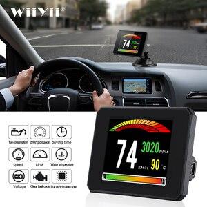 Image 1 - P16 חדש רכב display אבחון כלי T816 OBD2 GPS 48 פונקציות נתונים דיגיטלי מטר drving מחשב תקלה אבטחת אזעקה