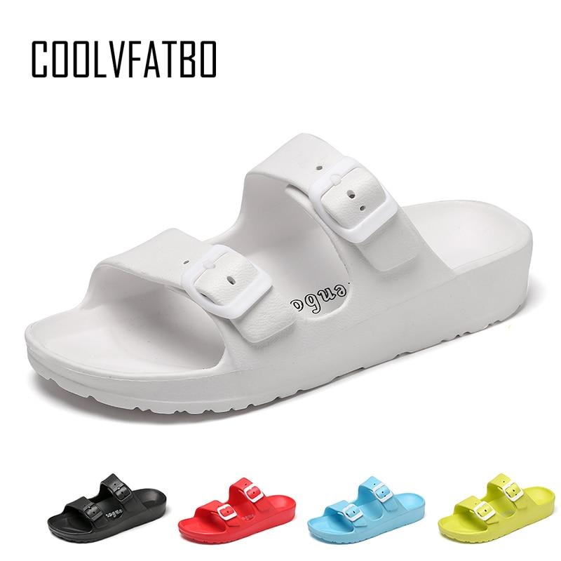 COOLVFATBO Summer Women Slippers Non-slip Women Slides Home Slippers Slip On Sandals Women Shoes Beach Flip Flops