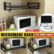 Space Microwave Oven Bracket Wall Mounted Kitchen Rack Light Grate Kitchen Shelf Microwave Oven Rack Storage Wall