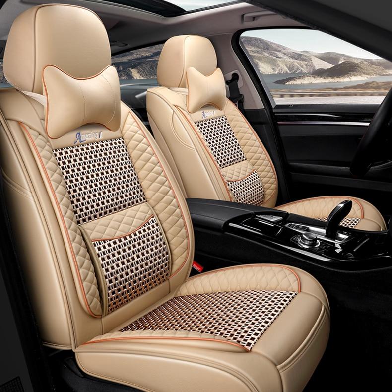 Housse de siège de voiture universelle pour auto mitsubishi pajero 4 2 sport outlander xl asx accessoires lancer 9 10 housses pour sièges de véhicule