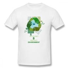 100% cotton There Is No Planet B Protect Environment print casual mens o-neck t shirts fashion Mens Basic Short Sleeve T-Shirt