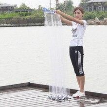 American hand throw net net fishing net fishing net aluminum ring easy to throw net aluminum ring easy to throw net