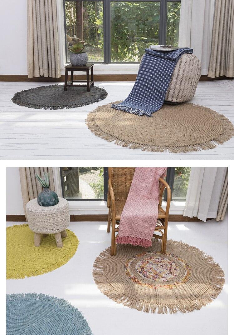 tapis rond indien pour salon chambre a coucher tisse a la main tatami pour salle d etude chambre d enfants tapis de jeu decoration de maison