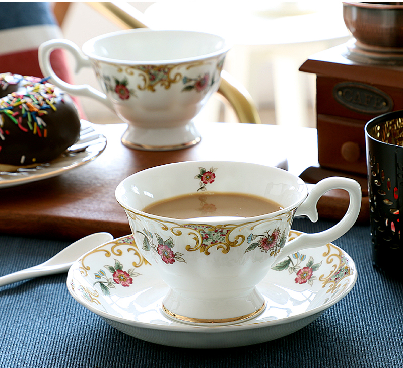 220ML, fine bone china cappuccino cup with saucer, noble latte cup, english tasse café esspresso cups,