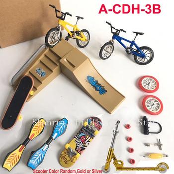 Gorąca sprzedaż minirower Mini hulajnoga fingerboard Skating Board Site dzieci edukacyjne zabawki Mini rower na palec modele na prezent dla chłopców dziewczyna tanie i dobre opinie Z tworzywa sztucznego CN (pochodzenie) clts-144 Certyfikat small parts not for the children 13*8*9cm Finger deskorolki 5-7 lat