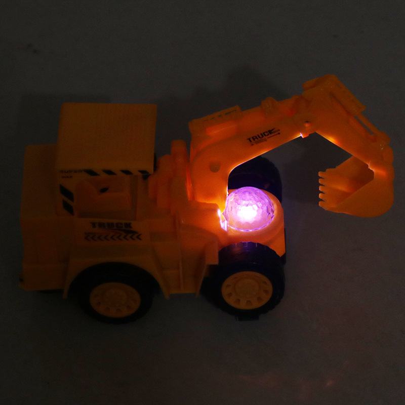 Excavator Electric Music Universal Excavator Shining CHILDREN'S Toy Small Car Colorful Projection Flash Small Gifts