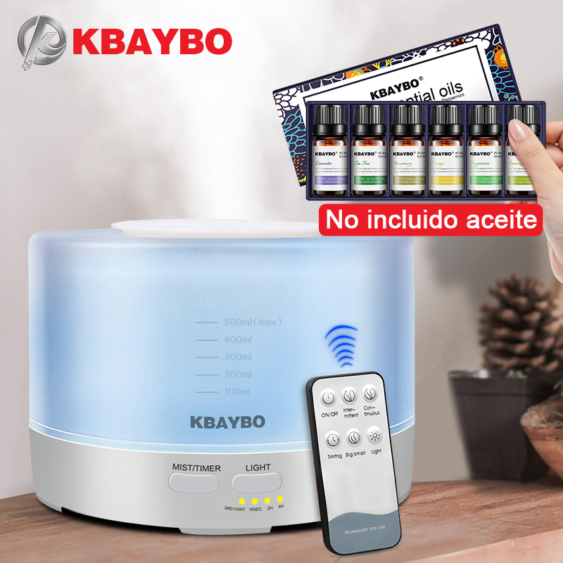 500ml Remote Control Humidifier Aromatherapy Essential Oil Aroma Diffuser With 7 Color LED Lights Essential Oil For Diffuser