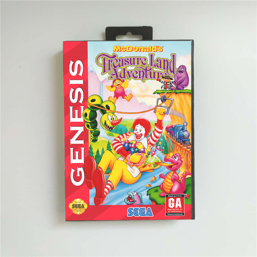 McDonald's Treasure Land Adventure - USA Cover With Retail Box 16 Bit MD Game Card for Sega Megadrive Genesis Video Game Console