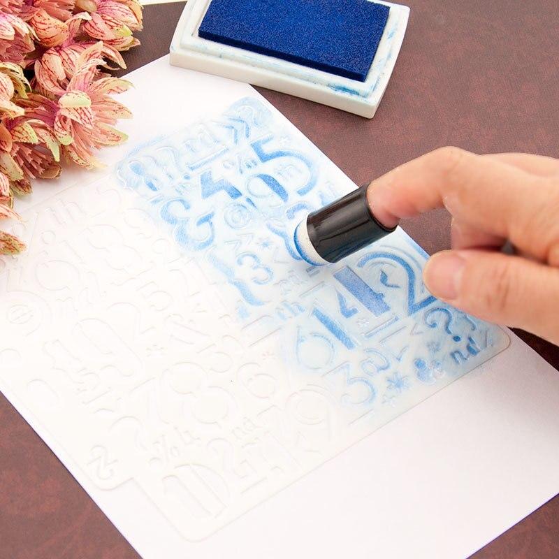 3Pcs New Finger Stencil Sponge Layering Stencils Template Coloring Sponge DIY Hand Tool