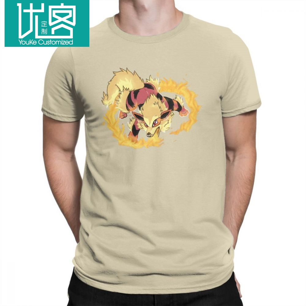 font-b-pokemon-b-font-rising-rivals-arcanine-leisure-t-shirt-men-short-sleeved-clothes-comfortable-tees-pure-cotton-round-collar-t-shirts