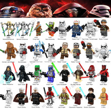 Star Wars Pong Krell Starwars Legoelys Noga-ta Rebel Trooper Darth Vader Darth Maul Luke C-3Po Jedi Knight Rey Building Blocks(China)