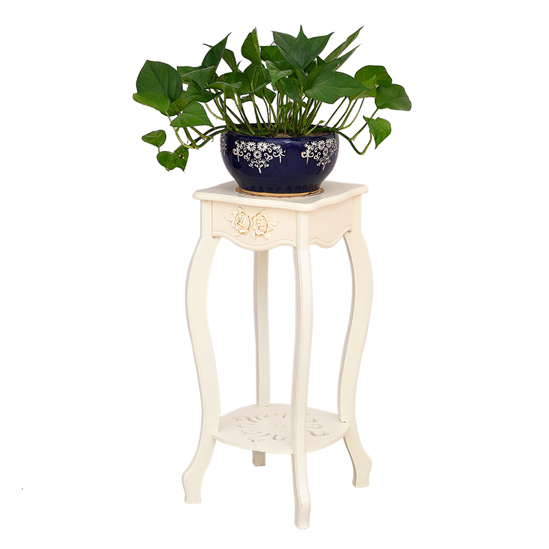 Balcony Shelf Multi-storey Indoor A Living Room Green Luo Flower Rack Solid Wood Landing Type Flowerpot Frame European Style