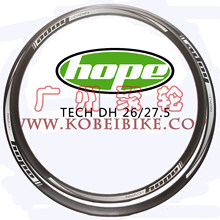 "Hope Tech DH 27.5""26er 32 Holes Mtb Bicycle Rims Mountain Bike Circle Tubeless Ready For AM DH(China)"