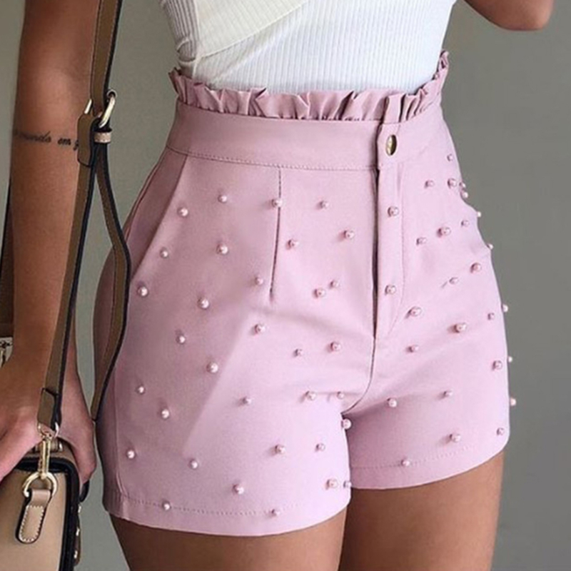 Womens Solid Color Shorts