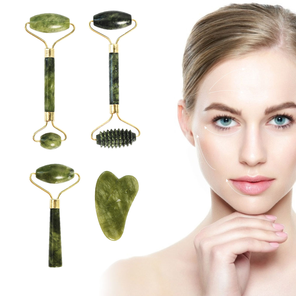 Facial Massage Roller Double Heads Jade Stone Face Lift Hands Body Skin Relaxation Slimming Beauty Health Skin Care Tools|Face Skin Care Machine| - AliExpress