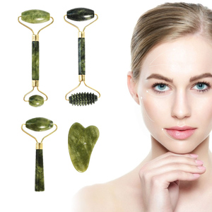 Jade Roller Face Massager Roller Double Heads Jade Stone Face Lift Hands Body Skin Care Relaxation Beauty Health Facial Massage