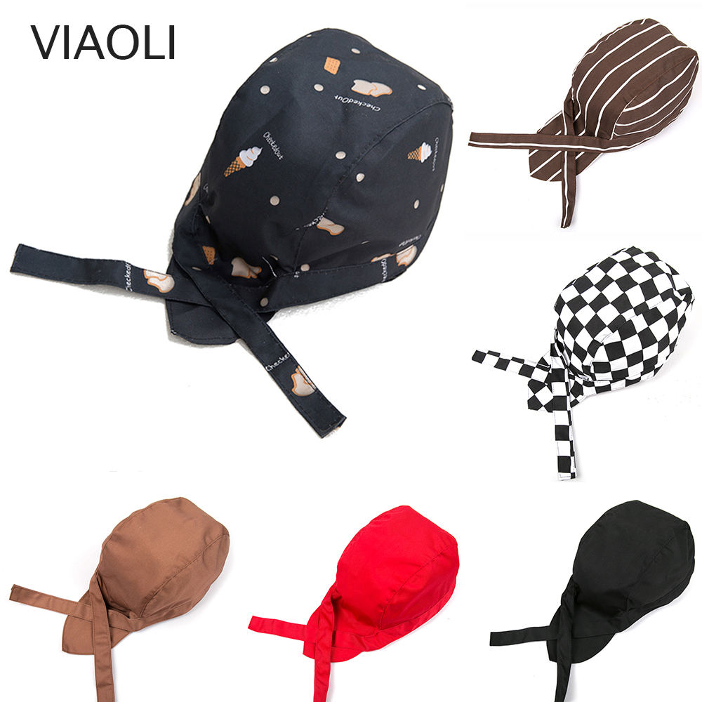 Chef Hat Hotel Kitchen Restaurant Cap High Quality Waiters Ribbon Hats For Man And Woman Adjust Funky Chief Hats Free Shipping