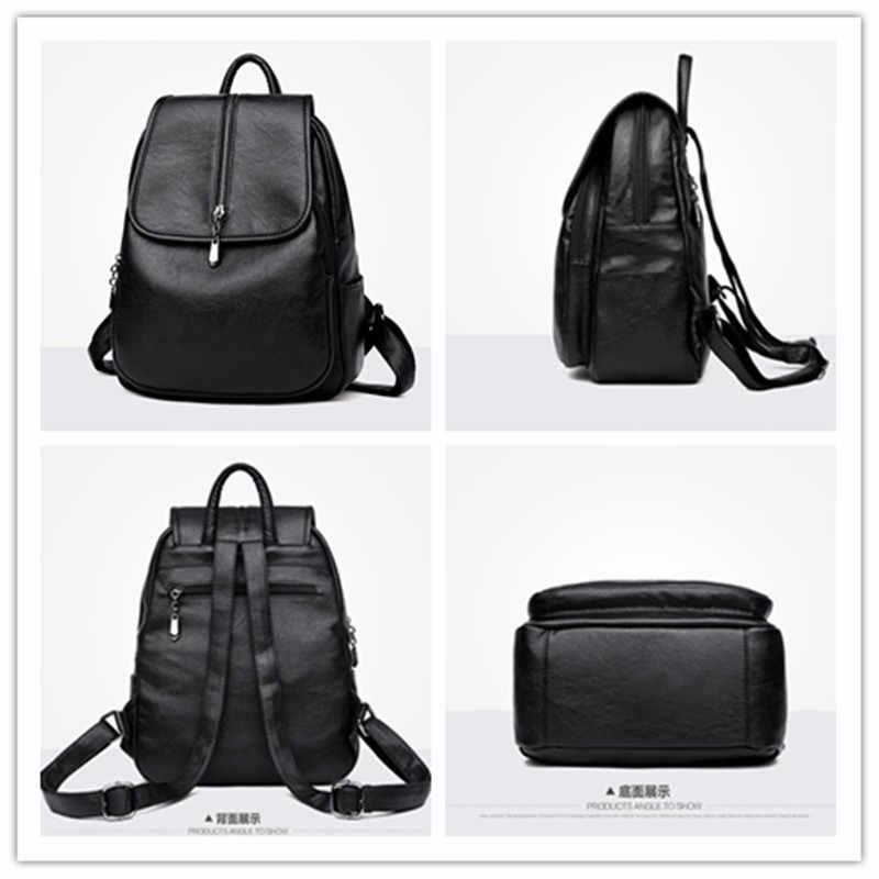 IMYOK/Новинка; модный рюкзак из искусственной кожи с двойным плечом; однотонная дорожная сумка для отдыха; Большой Вместительный женский рюкзак для девочек