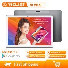 Teclast M30 10.1 inch 4G Phablet Tabletten Android 8.0 3GB RAM 64GB ROM 1920x1200 Tablet PC MT6797 X27 Deca Core 7500mAh GPS(China)