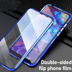 Image 5 - Realme5 pro Glass cases on for oppo realme 5pro Q 360 Double Sided Glass Case realmeQ Magnetic Metal coque (6.3Inch)