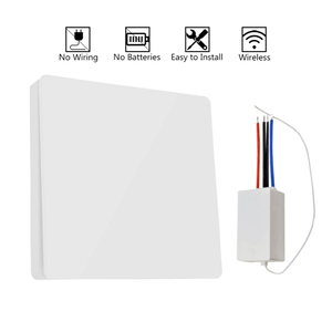 Image 5 - Wireless remote Switch Wiring free wireless remote control switch Self Powered wireless Switch AC Wall panel No battery