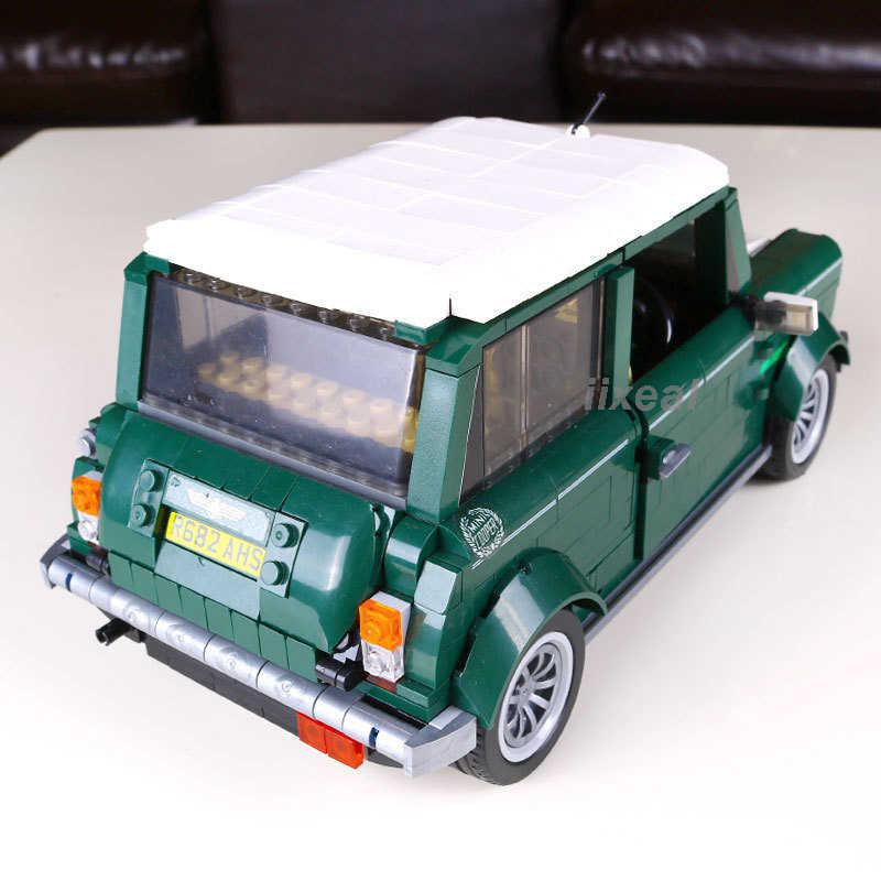 O mini modelo de tijolos de cobre compatível legoed 10242 técnica clássico blocos de construção do carro tijolos brinquedos aniversário para crianças