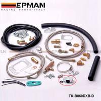 Complete Turbo Oil Line Inlet Drain Return Kit With Sensor T3T4 T3 T4 T70 T04S T04Z T4E TK-B060DXB-D