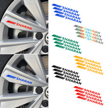 4 Pcs Mobil Roda Lencana Logo Emblem Decal Roda Sticker Styling untuk Volkswagen Sharan Scirocco Golf Tiguan(China)
