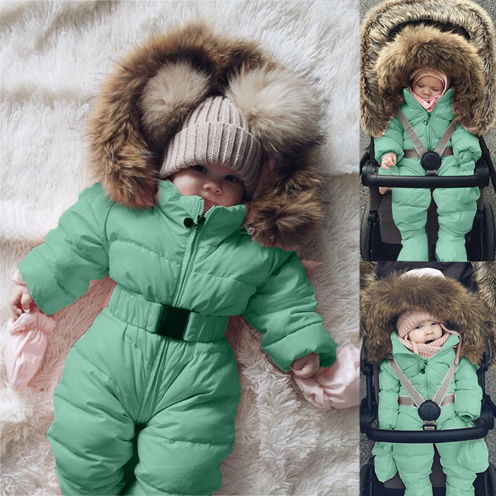 Baby Coats for 1-5 Years Weant Newborn Infant Baby Boys Girls Winter Hoodie Hooded Puffer Coat Warm Thicken Down Jacket Outwear Clothes for Kids Toddler Outfits Gifts