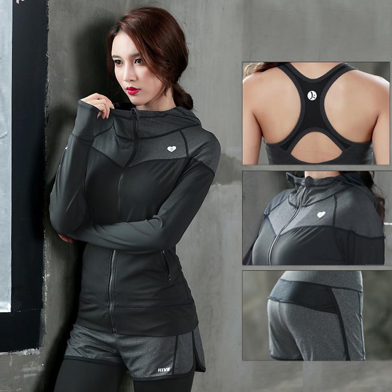 Soutien-gorge trois pièces sport costumes séchage rapide respirant vêtements de yoga femmes mince fitness entraînement