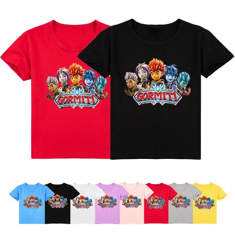 От 2 до 16 лет из популярной игры Gormiti футболка детская одежда повседневные футболки, верхняя одежда, костюм для мальчиков с персонажами из му...