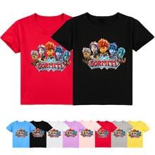 2-16Y Hot Games Gormiti T Shirt Kids Casual Tees Tops Costume Cartoon Boys Tshirts Short Sleeve Toddler Girls Clothes Children