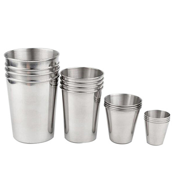 1 Pcs Stainless Steel Cup Metal Beer Wine Pint Glasses Coffee Tea Milk Mugs Home Drink Accessories 30ml/70ml/180ml/320ml
