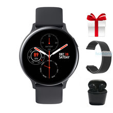 Men Smartwatch+Strap+Earphone/Set Pretty Smartwatch for Women Kids Waterproof IP68 Support Whatsapp Reminder Fitness Tracker(China)