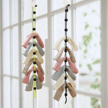 Calcetines creativos para el hogar, colgador de cuerda multifunción para lavar la ropa, cesto de red, calcetines para lavar, medias, tendedero de calcetines