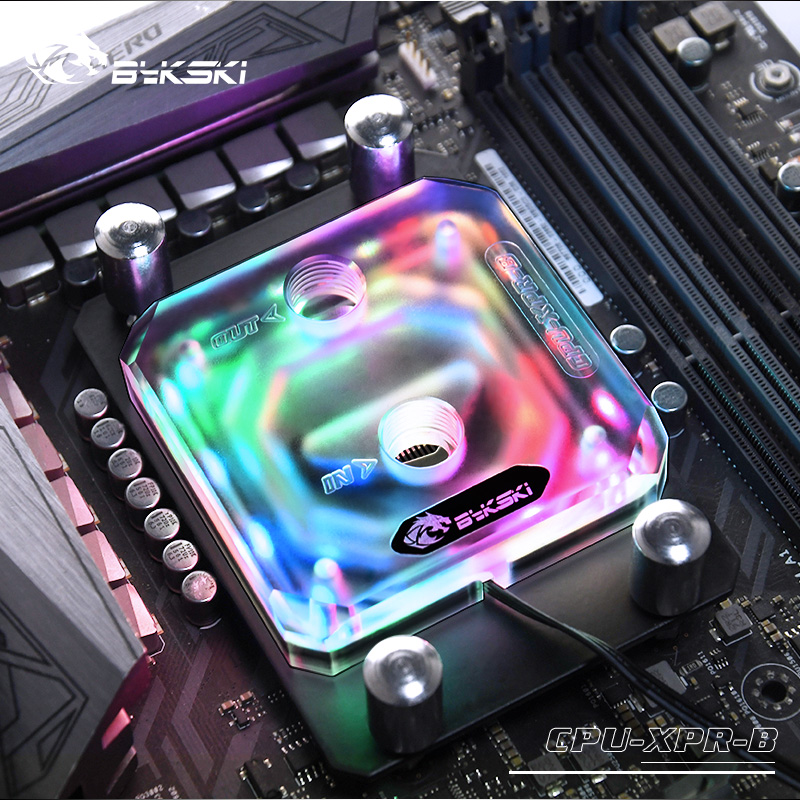 Bykski CPU Block For AM3/AM4 Ryzen3/5/7 Frosted Acrylic RGB (12v 4pin) RBW (5v 3pin) Lighting Water Cooling Block image